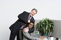 Businessman in headlock