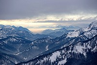 Austrian and german alps on the border of tyrol and bavaria