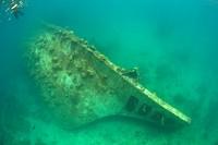 Fishing Boat Wreck in Lagoon, Micronesia, Palau