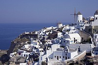 View of Oia, Santorini, Greek Islands