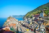 Vernazza. Cinque Terre. Liguria. Italian Riviera. Italy.