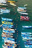 Boats. Vernazza. Cinque Terre. Liguria. Italian Riviera. Italy.