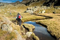 Lakes Route  Colomers glaciar cirque  Aran Valley  Pyrenees mountain range  Lerida province  Catalonia, Spain, Europe