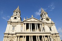 The West Front of St Pauls Cathedral, London, England, UK