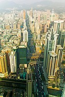 Aerial view of Shenzhen, Guangdong Province, China