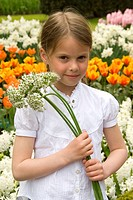 Girl holding Allium
