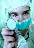 girl playing the doctor