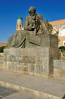 monument, statue of the famous mathematician Al Khwarizmi, Al Choresmi, Khiva, Chiva, Unesco World Heritage Site, Uzbekistan, Central Asia