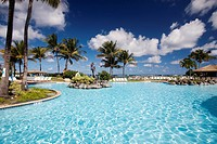 Puerto Rico, North Coast, Dorado, Embassy Suites Resort Hotel, swimming pool.
