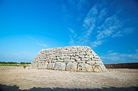´Naveta d´es Tudons´. Prehistoric monument from the Talayotic culture. Ciutadella. Minorca. Baelaric Islands. Spain.