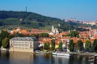 Castle district. River Vltava. Prague. Czech Republic.