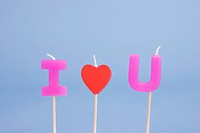 I love U candle
