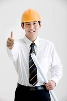 Architect giving his thumb-up (thumbnail)