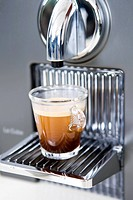 espresso on coffee maker