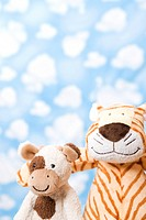 Wallpaper and animal shape, cow and tiger (thumbnail)