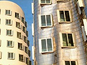Neuer Zolholf buildings offices by the architect Frank Gehry, Medienhafen, Dusseldorf, Germany, Europe