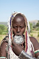 Africa  Ethiopia  Omo Valley  Mursi people.