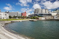 Lagoon in front of the Michael Fowler Centre