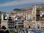 The Iglesia de San Fransisco in the PLaza San Fransisco in La Paz in Bolivia