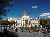 The Palacio Legislativo in the Plaza Murillo in La Paz in Bolivia