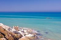 beautiful exotic beach in Mediterranean
