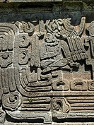 Pirámide de Quetzalcoatl. Xochicalco archaelogical site. Mexico