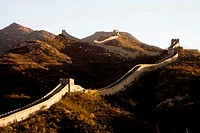 High angle view of a fortified wall, Great Wall Of China, Badaling, China