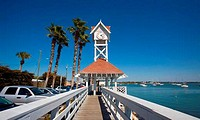 Pier at seaside, Bridge Street Pier, Bradenton Beach, Anna Maria Island, Florida, USA