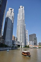 Singapore: skyscrapers along the Singapore River's bank