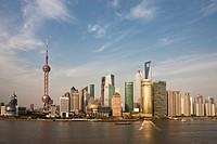 China-May 2010 Shanghai City Pudong Skyline.