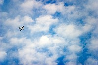 light aircraft and clouds