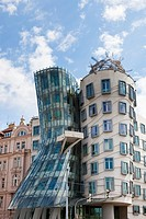 The Dancing House Tancící dum in New Town Prague Czech Republic