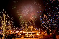 Fireworks at 2010 Bavarian Icefest, Leavenworth