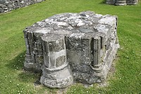 column remnant Inch Abbey, County Down, Northern Ireland