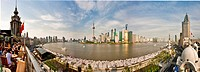 China, Shanghai, town, city, blocks of flats, high_rise buildings, city, Huangpu, river, flow, Pudong, pedestrian precinct, mall, traveling, tourism, ...