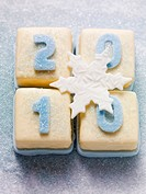 Petit fours with numbers 2010 for New Year