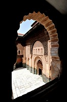 Medersa Ben Youssef choranic, school  Marrakech, Morocco
