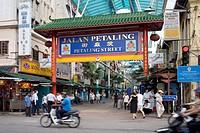 Pedestrians in a shopping street, Chinatown, Kuala Lumpur, Malaysia
