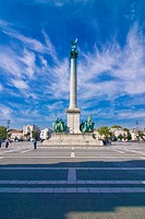 Hosok tere Heroes Square, Budapest, Hungary, Europe