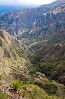 Rocky landscape on the island of San Antao, Cape Verde Islands, Africa