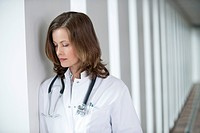 Female doctor looking upset