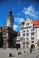 Stadthaus and Neues Rathaus (New Town Hall), Leipzig, Saxony, Germany
