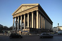 La Madeleine church in Place de la Madeleine, Paris, Île-de-France, France