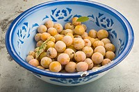 Bowl of Mirabelle plums