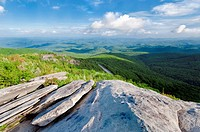 Beautiful view looking down on the Blue Ridge Parkway  North Carolina, USA