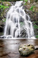 Beautiful Spruce Flat Falls in Great Smoky Mountains National Park, on the border of North Carolina and Tennessee