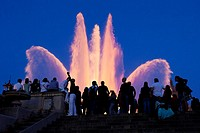 Montjuic magic fountain, Barcelona, Catalonia, Spain