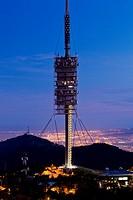 Torre de telecomunicaciones Norman Foster, Barcelona, Spain.