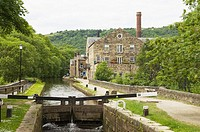 Rochdale Canal at Hebden Bridge,West Yorkshire,England
