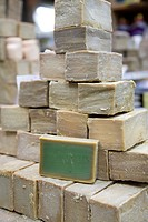 Syria, Aleppo, Old Town UNESCO Site, Old Souq, Olive Oil Soap typical product of Syria